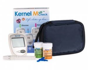 `Uric Acid and Glucose Meter Kit + an EXTRA 25 Uric Acid test strips and 10 Free Sterile wipes.